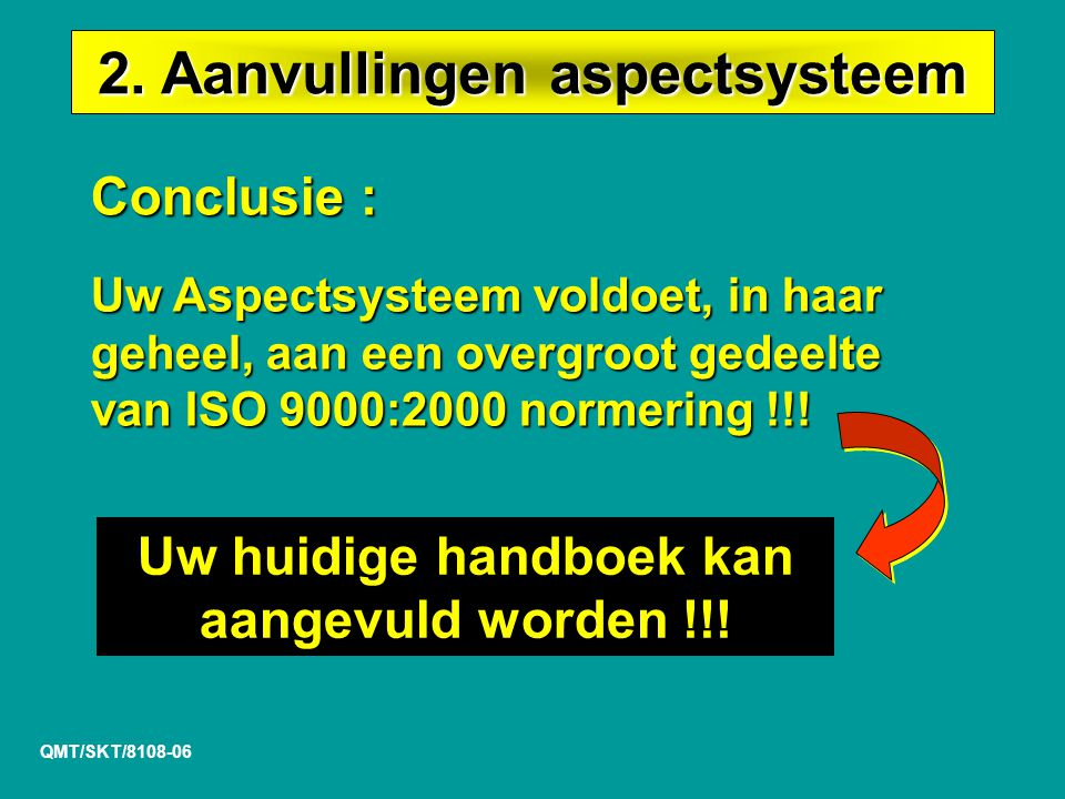 2. Aanvullingen aspectsysteem