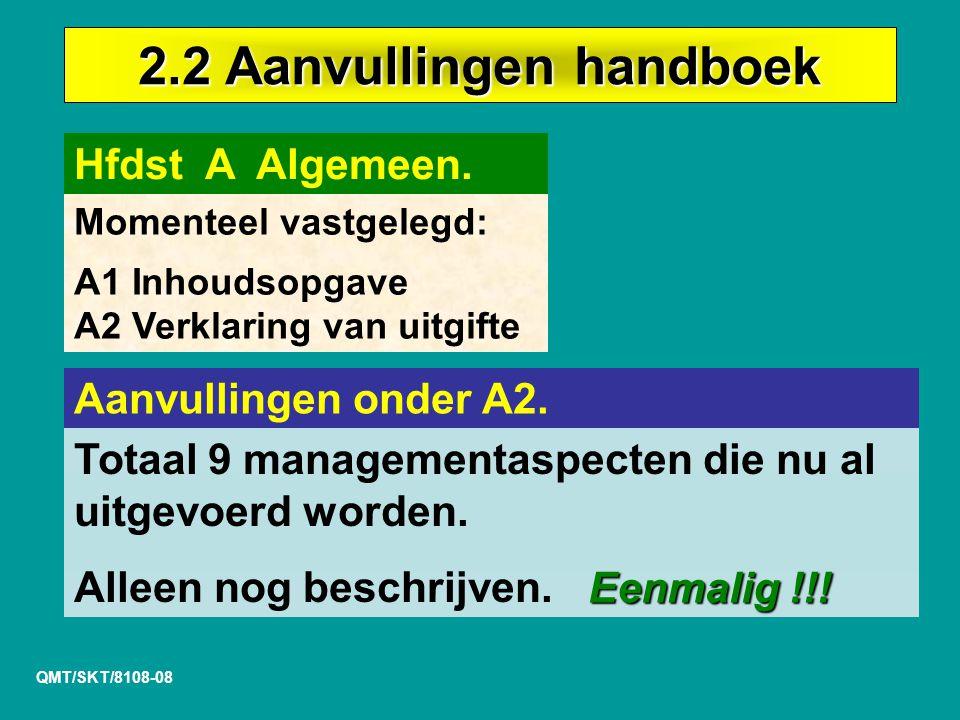 2.2 Aanvullingen handboek