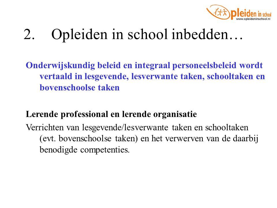 2. Opleiden in school inbedden…