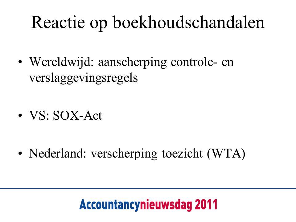Reactie op boekhoudschandalen