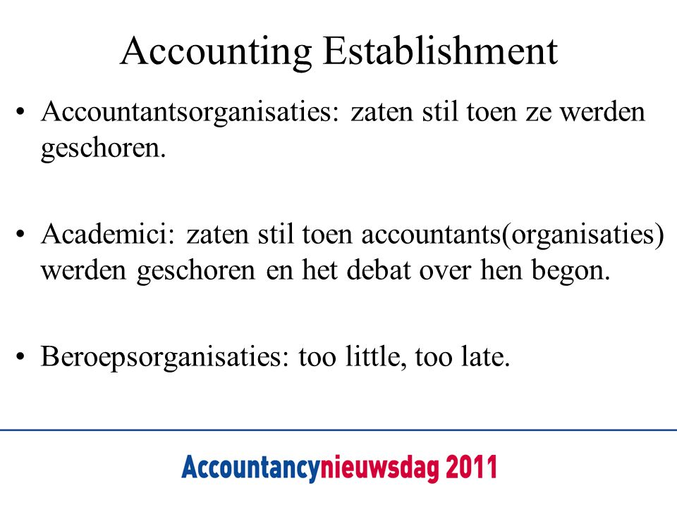 Accounting Establishment
