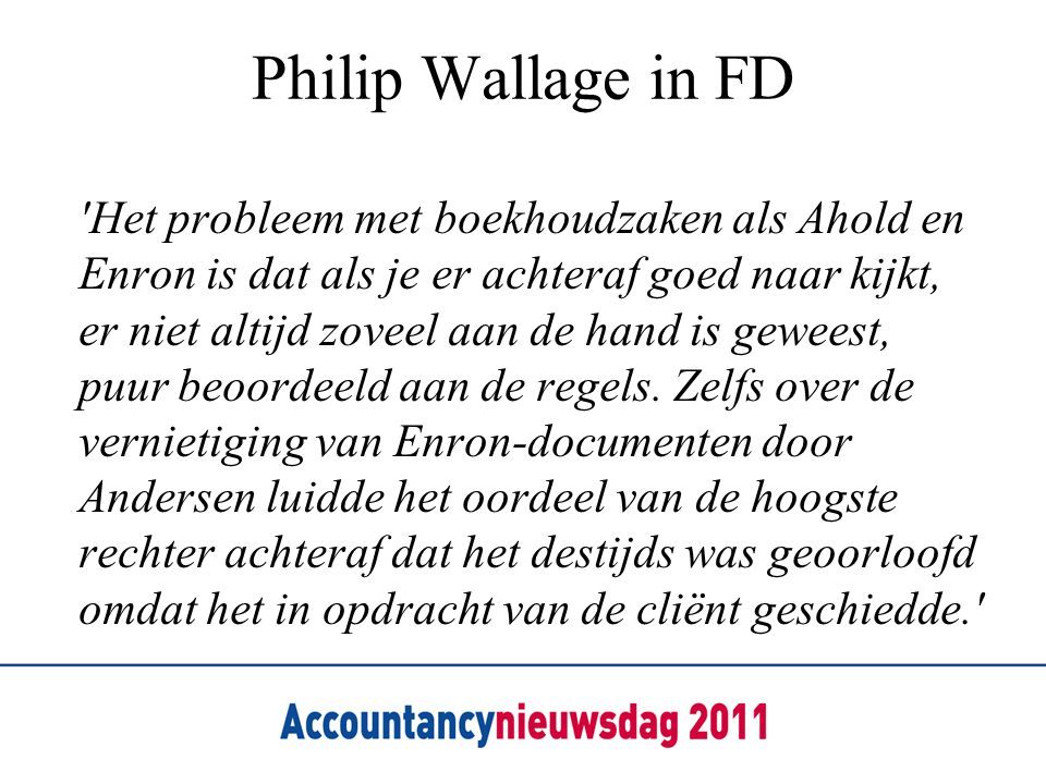 Philip Wallage in FD