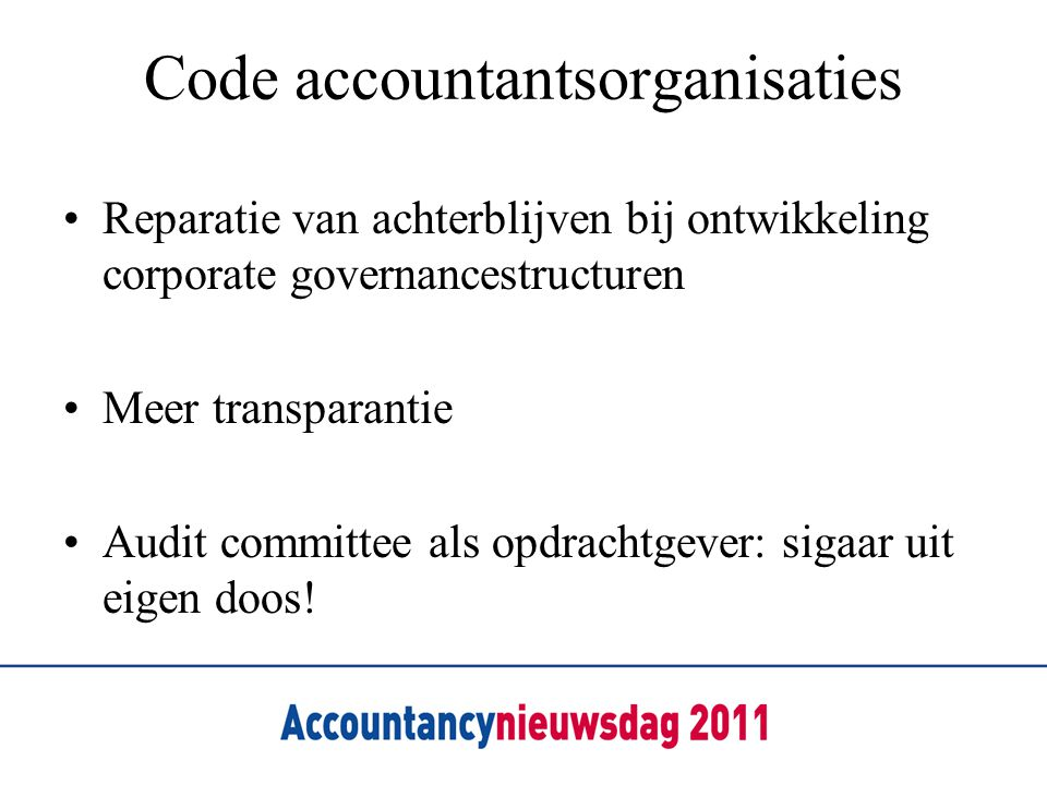 Code accountantsorganisaties