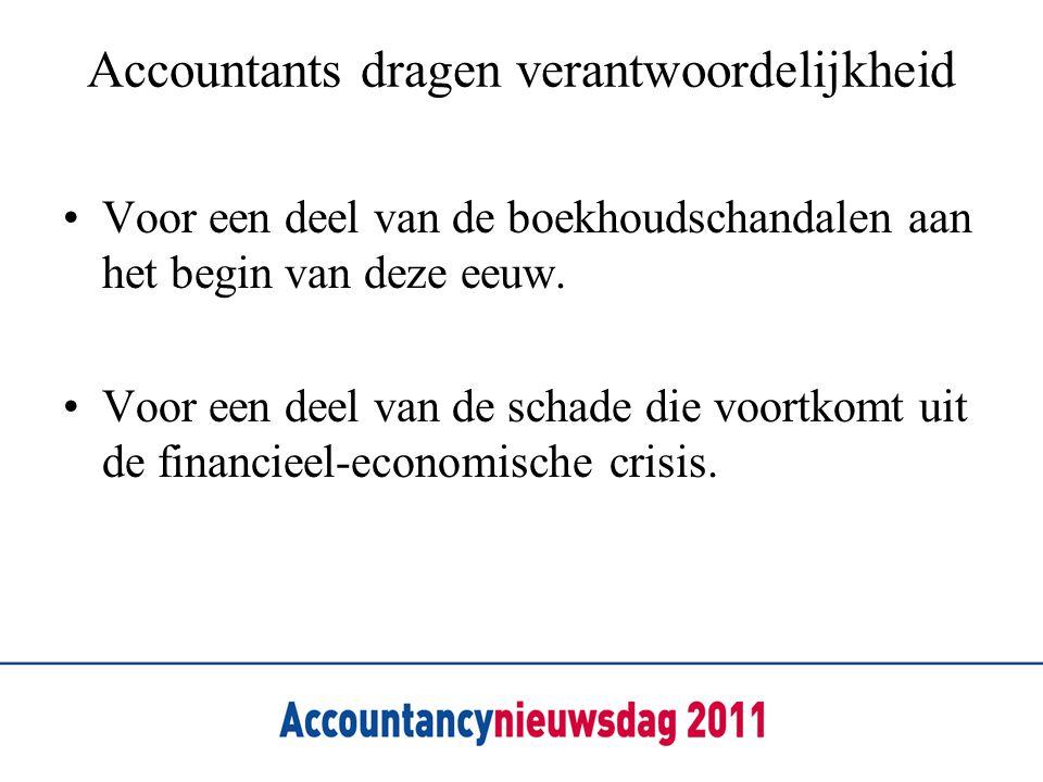 Accountants dragen verantwoordelijkheid