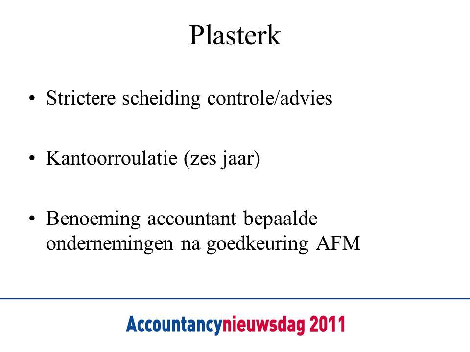 Plasterk Strictere scheiding controle/advies