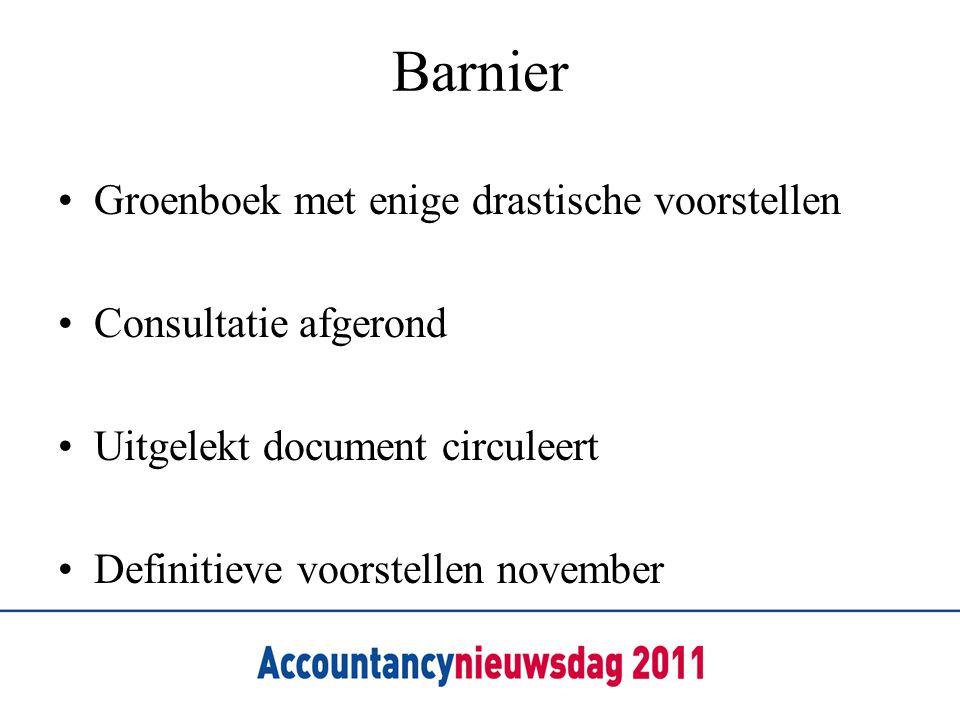 Barnier Groenboek met enige drastische voorstellen