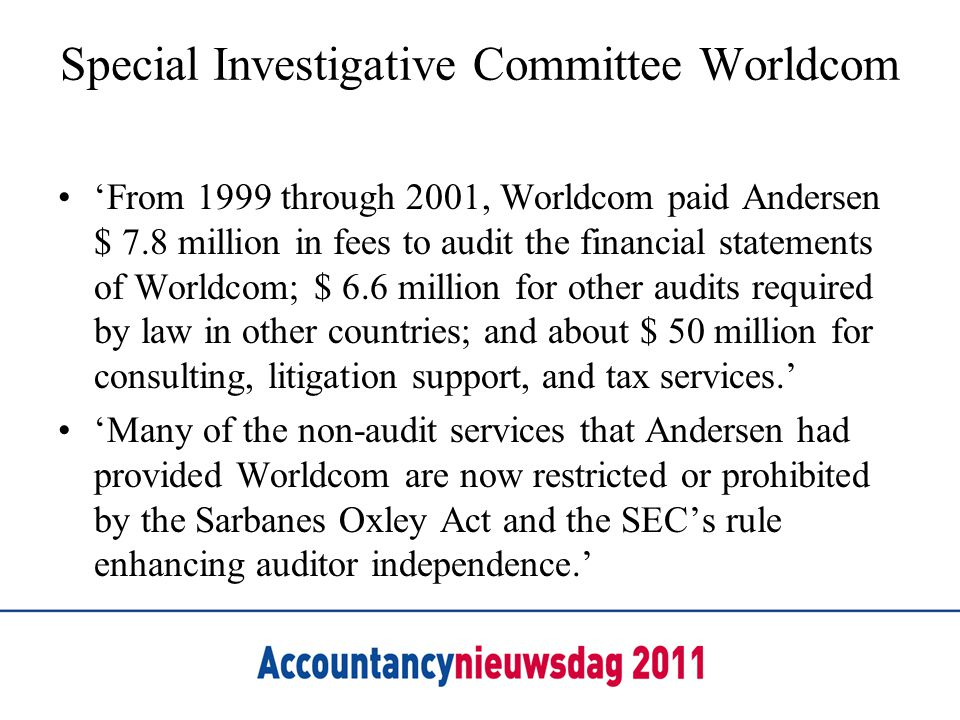 Special Investigative Committee Worldcom