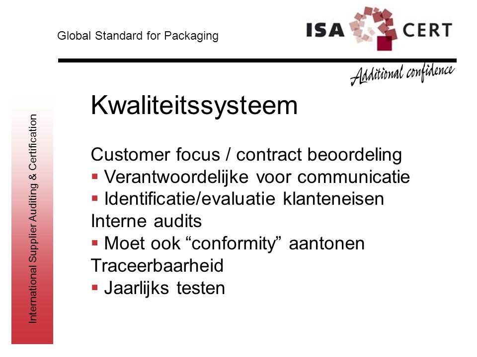 Kwaliteitssysteem Customer focus / contract beoordeling