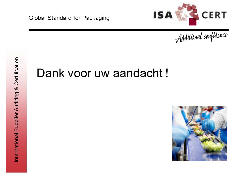 Global Standard for Packaging
