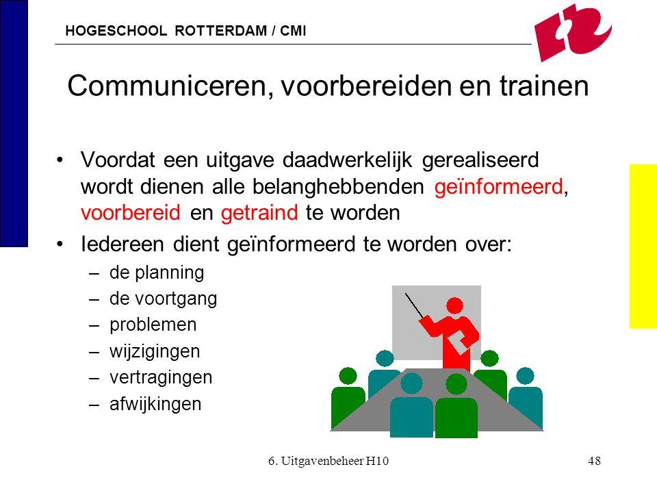 Communiceren, voorbereiden en trainen