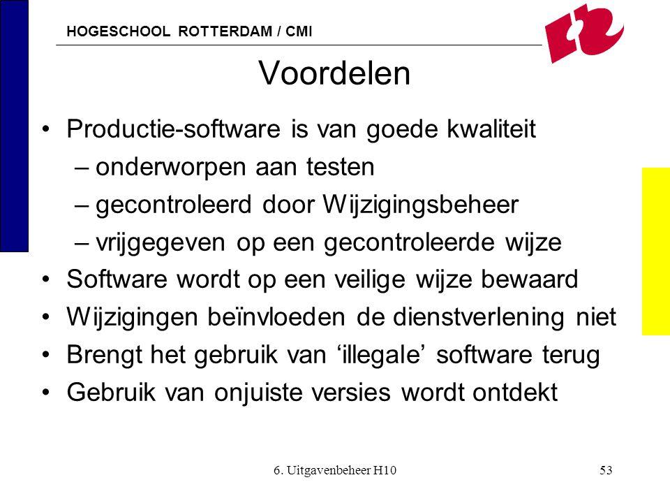 Voordelen Productie-software is van goede kwaliteit