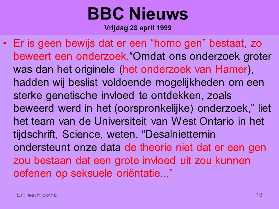 BBC Nieuws Vrijdag 23 april 1999