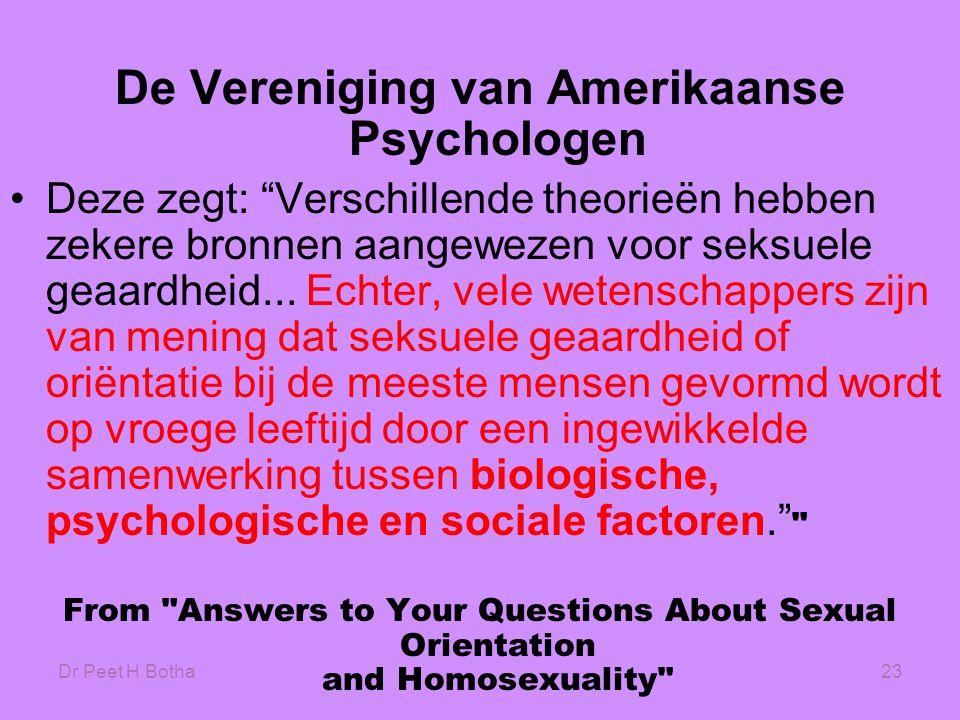 De Vereniging van Amerikaanse Psychologen