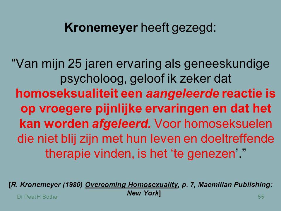 Kronemeyer heeft gezegd: