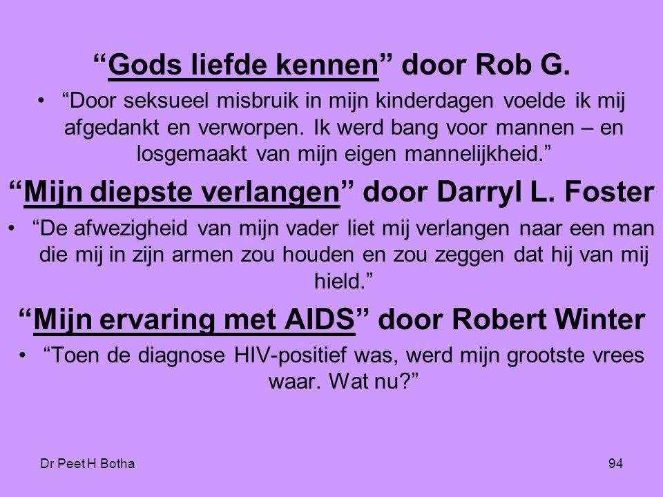 Gods liefde kennen door Rob G.