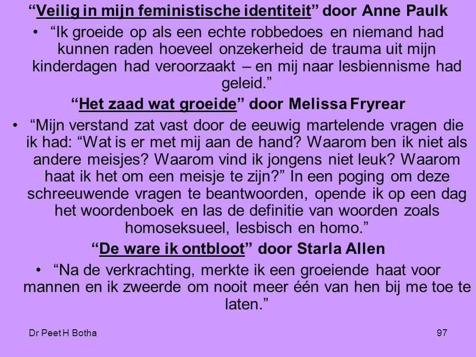 Veilig in mijn feministische identiteit door Anne Paulk