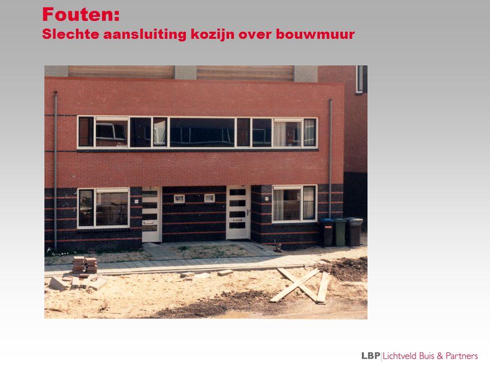 Fouten: Slechte aansluiting kozijn over bouwmuur