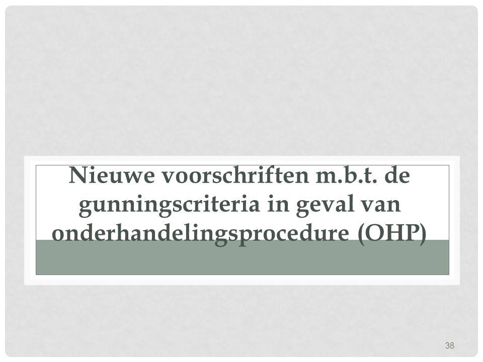 Nieuwe voorschriften m. b. t