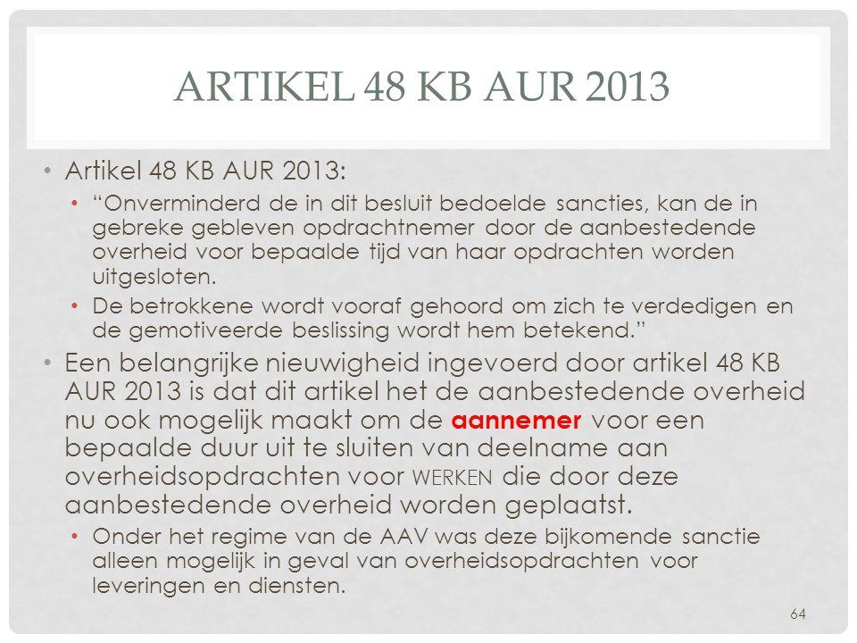 Artikel 48 KB AUR 2013 Artikel 48 KB AUR 2013: