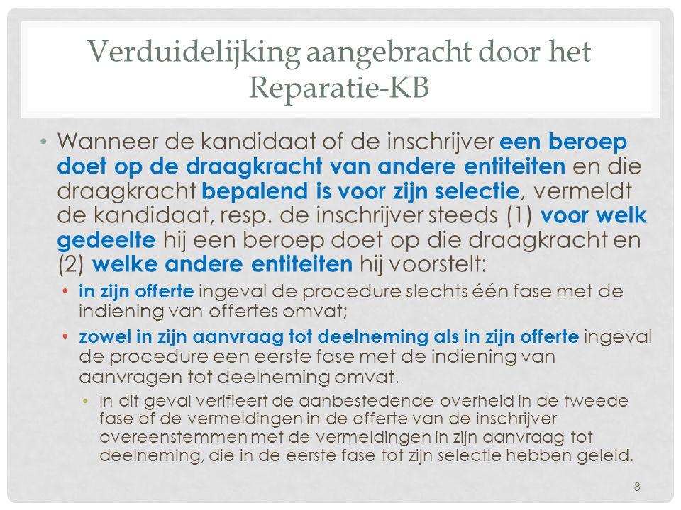 Verduidelijking aangebracht door het Reparatie-KB