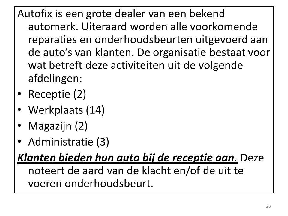 Autofix is een grote dealer van een bekend automerk