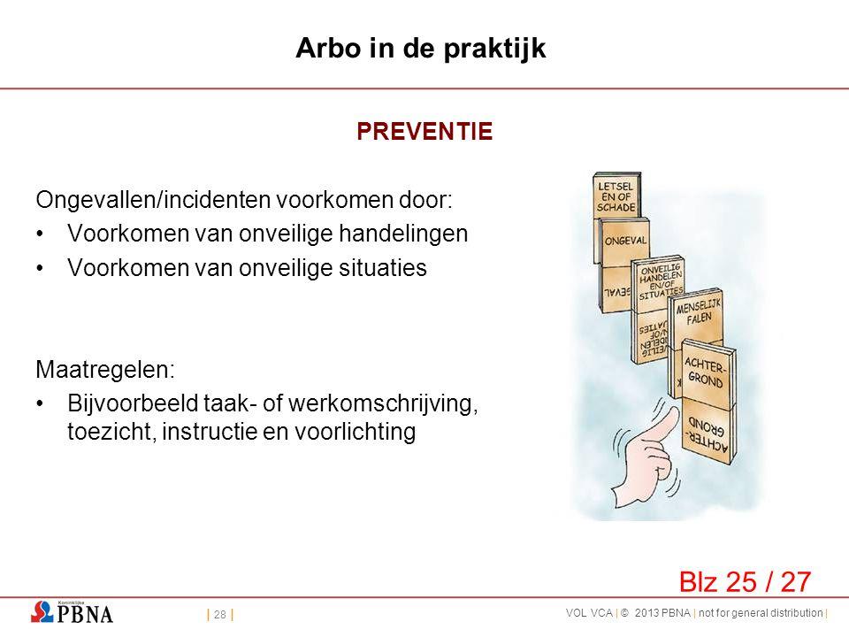 Arbo in de praktijk Blz 25 / 27 PREVENTIE