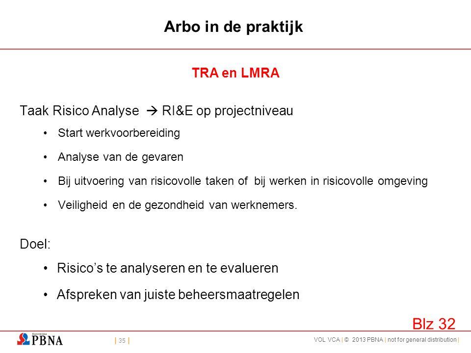 Arbo in de praktijk Blz 32 TRA en LMRA