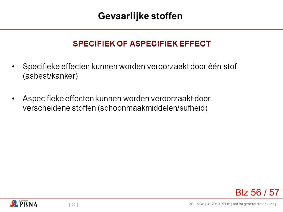 SPECIFIEK OF ASPECIFIEK EFFECT