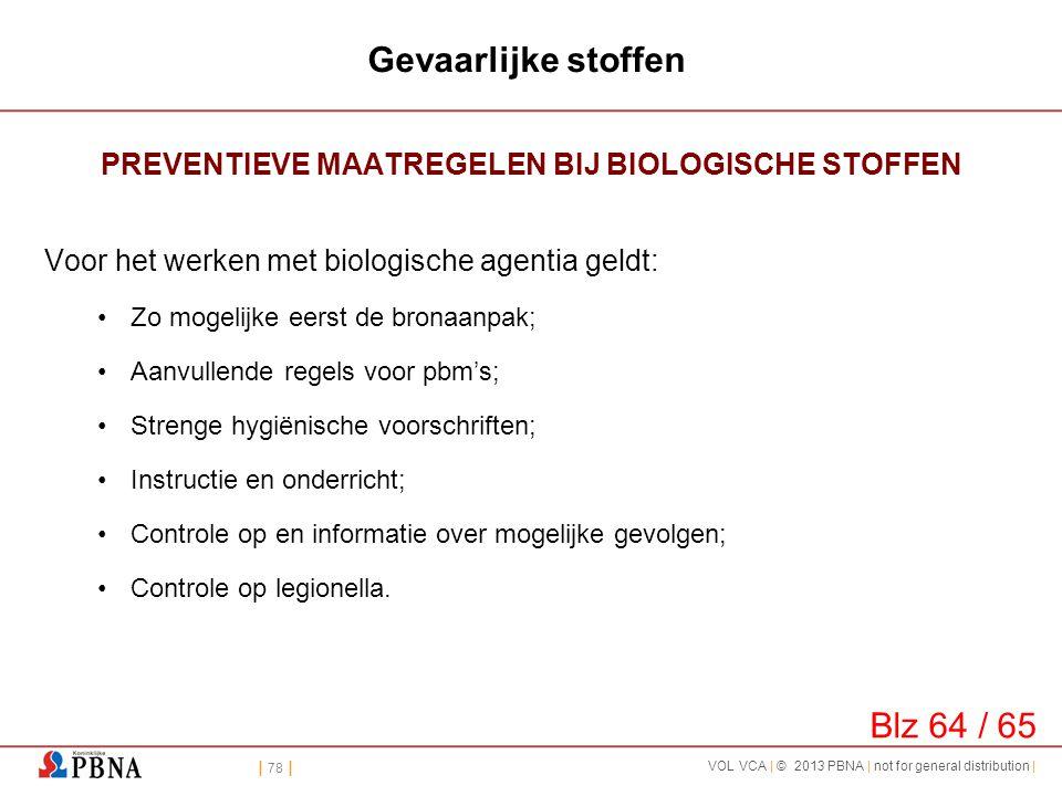 PREVENTIEVE MAATREGELEN BIJ BIOLOGISCHE STOFFEN