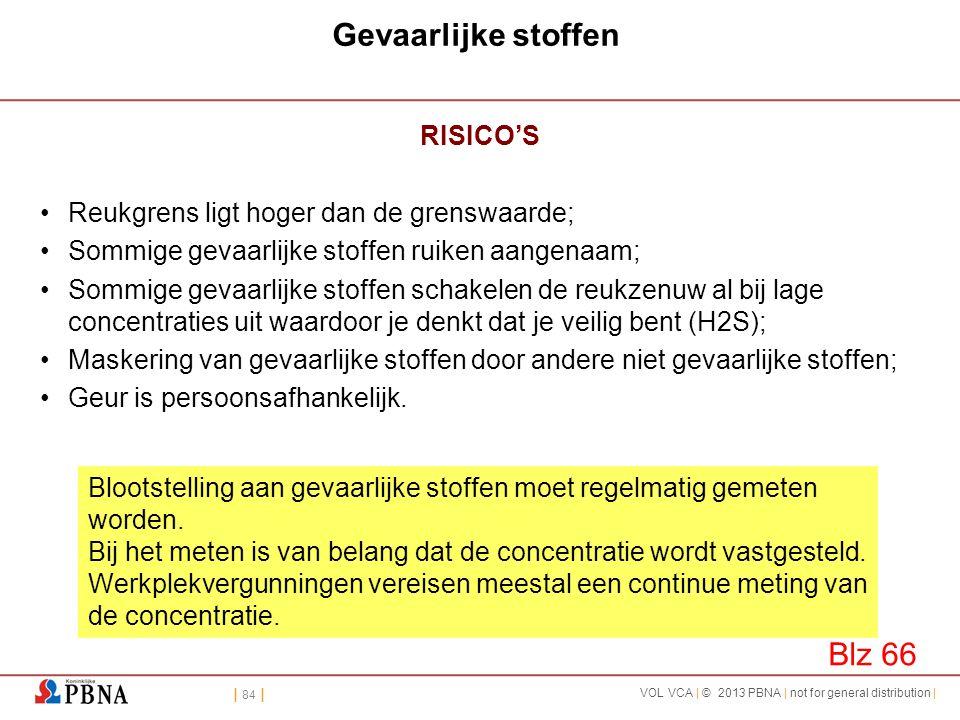 Gevaarlijke stoffen Blz 66 RISICO'S