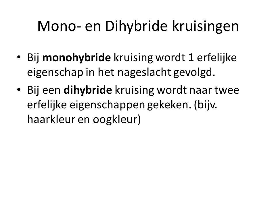 Mono- en Dihybride kruisingen