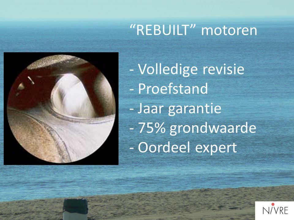 Rebuilt motoren - Volledige revisie - Proefstand - Jaar garantie - 75% grondwaarde - Oordeel expert