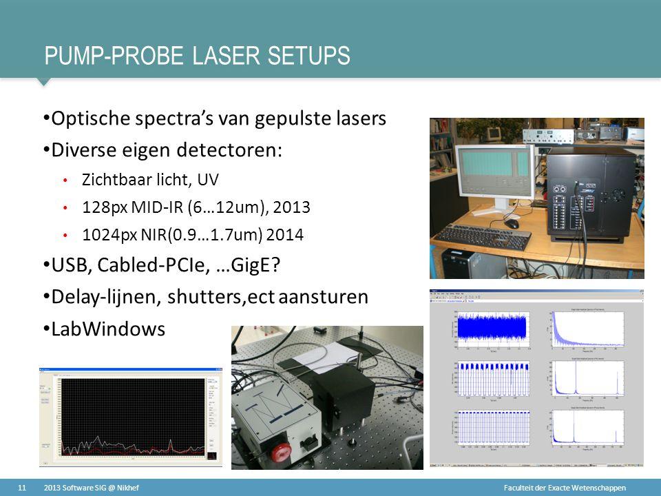 Pump-probe laser setups