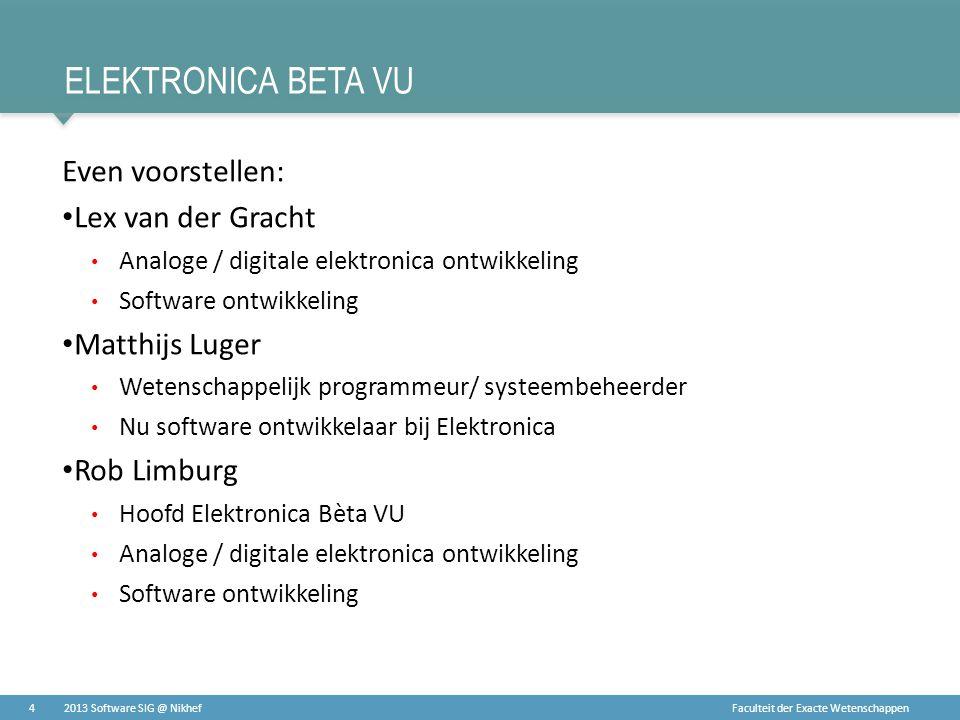 Elektronica Beta Vu Even voorstellen: Lex van der Gracht