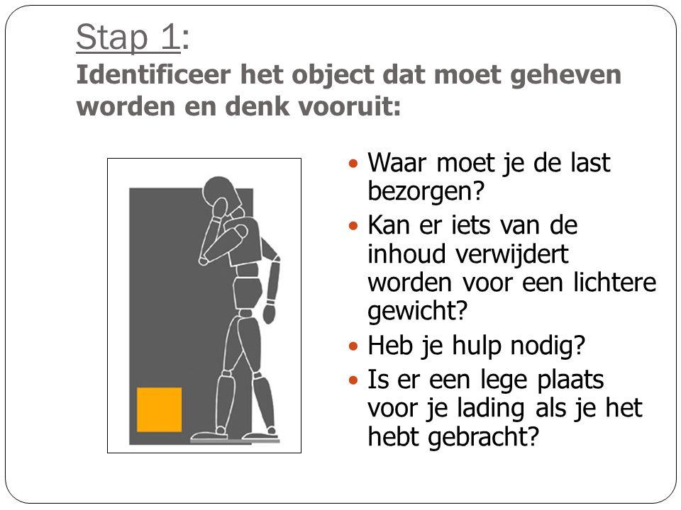 Stap 1: Identificeer het object dat moet geheven worden en denk vooruit: