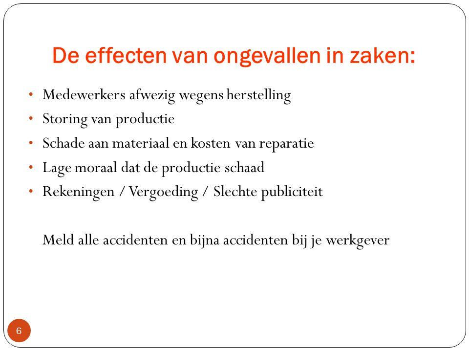 De effecten van ongevallen in zaken: