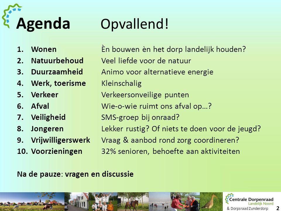 Agenda Opvallend! Wonen Èn bouwen èn het dorp landelijk houden