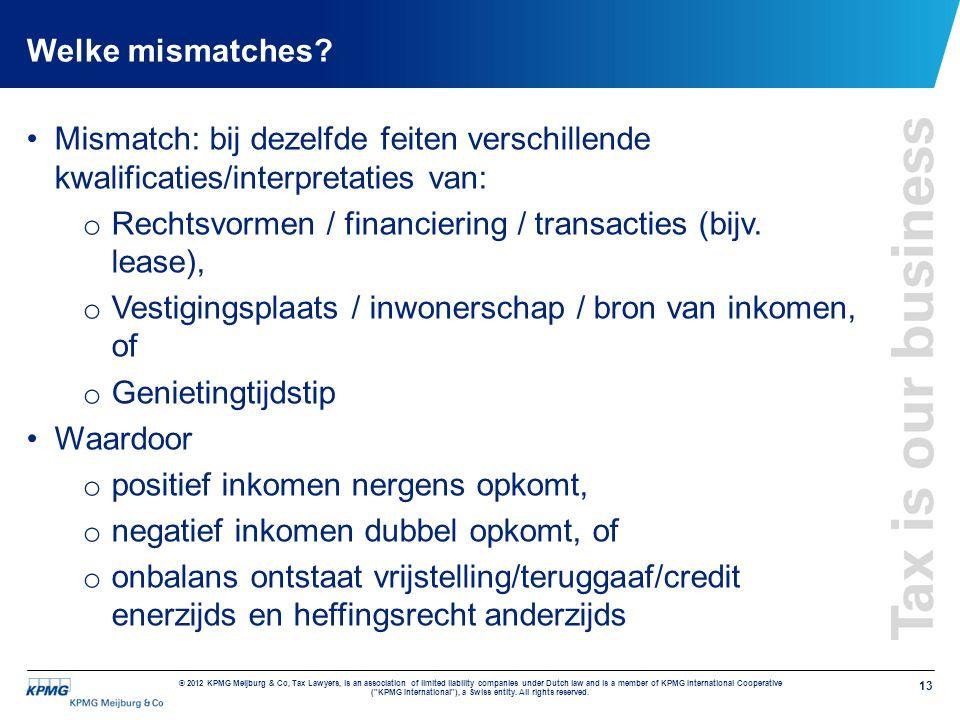 Rechtsvormen / financiering / transacties (bijv. lease),