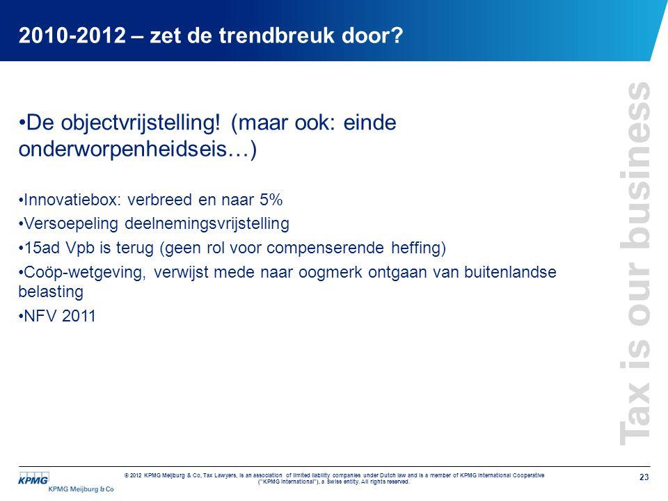 2010-2012 – zet de trendbreuk door