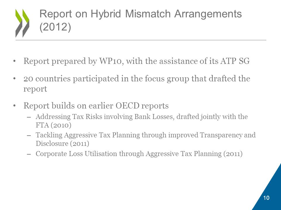 Report on Hybrid Mismatch Arrangements (2012)