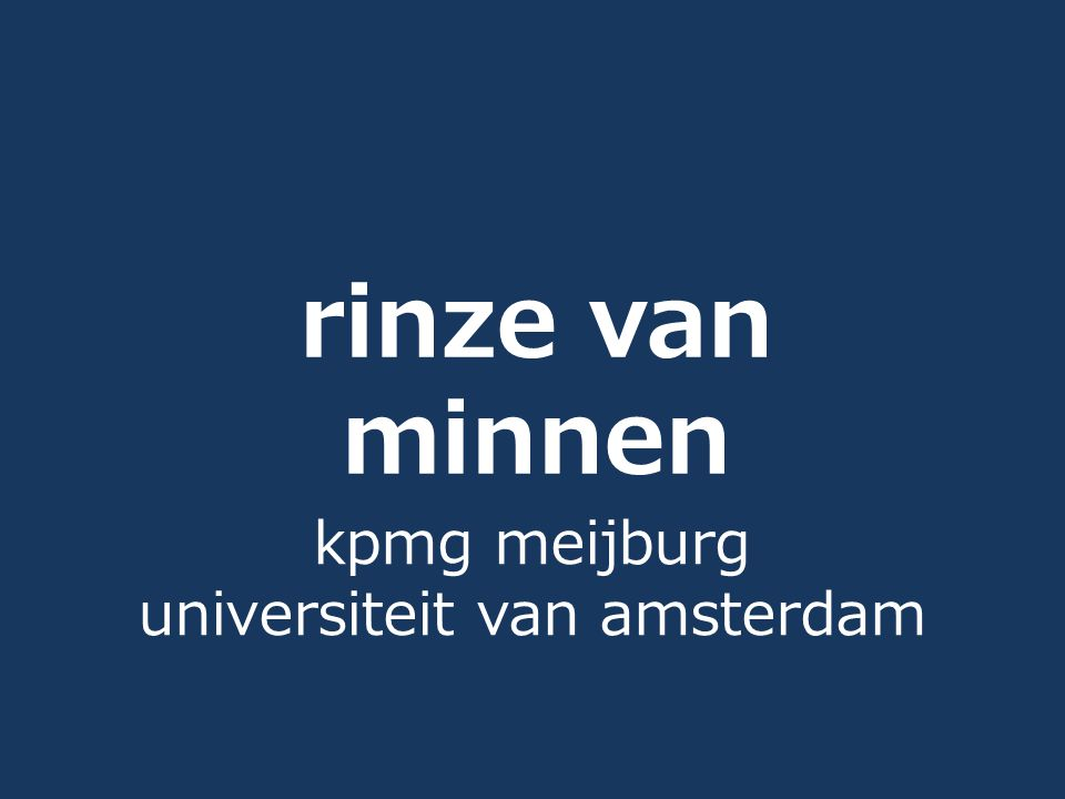 kpmg meijburg universiteit van amsterdam