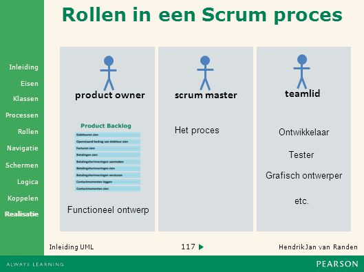Rollen in een Scrum proces