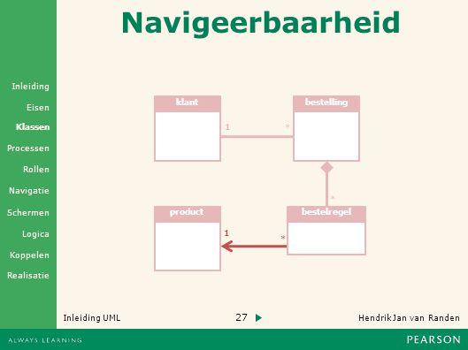 Navigeerbaarheid klant bestelling 1 * * product bestelregel 1 *
