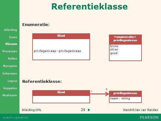 Referentieklasse Enumeratie: Referentieklasse: klant «enumeratie»