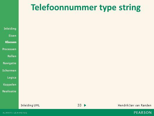 Telefoonnummer type string