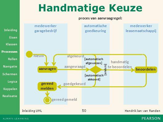Handmatige Keuze proces van aanvraagregel: medewerker garagebedrijf