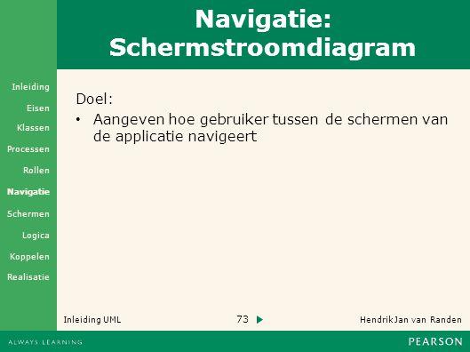 Navigatie: Schermstroomdiagram