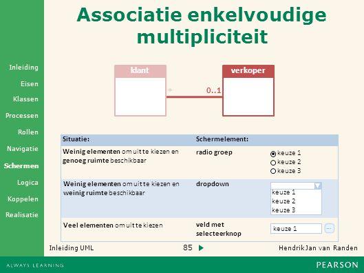 Associatie enkelvoudige multipliciteit