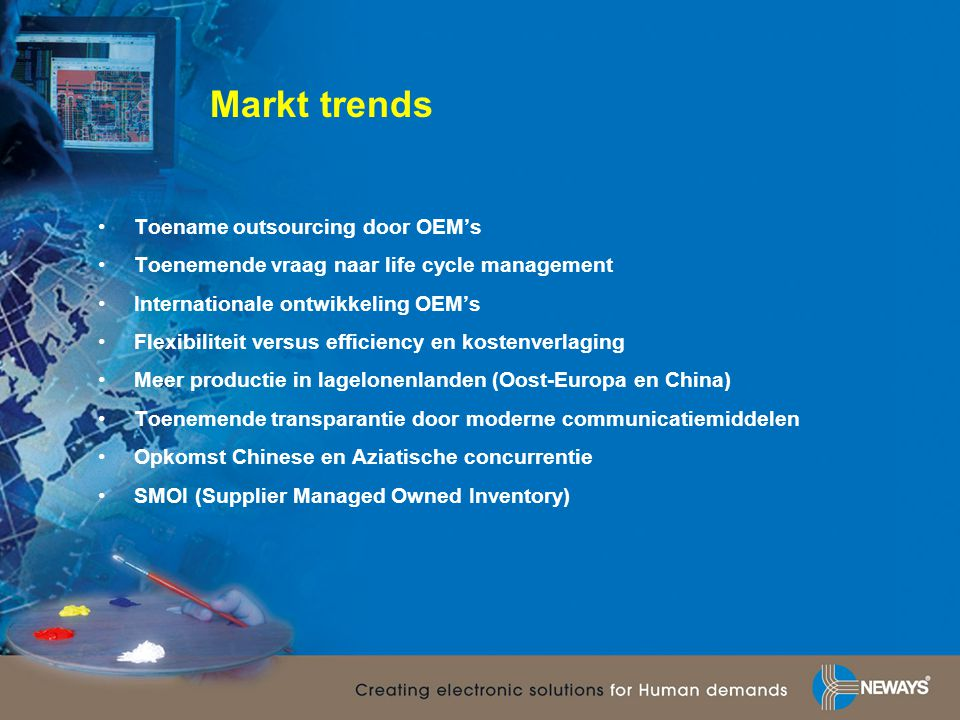 Markt trends Toename outsourcing door OEM's