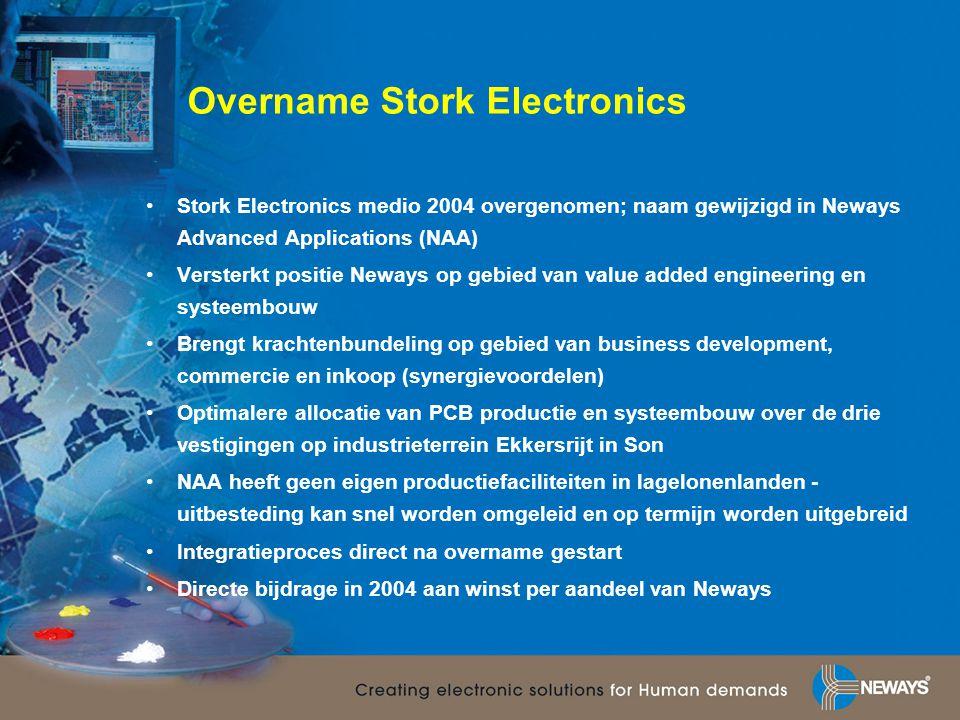Overname Stork Electronics